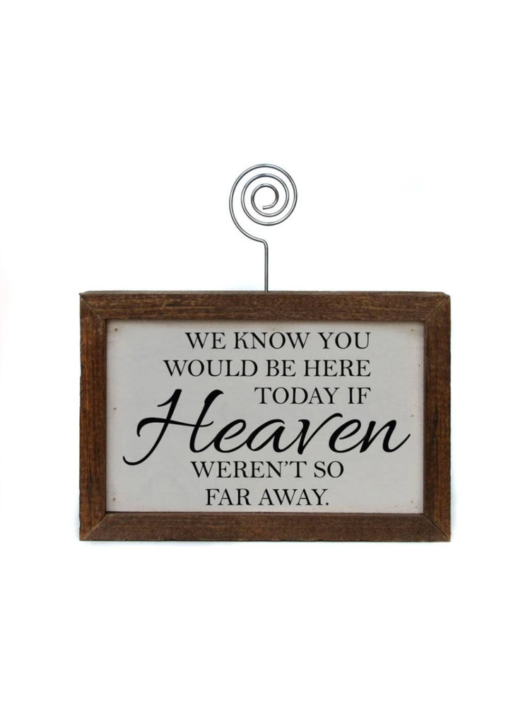 Heaven Picture Frame Block