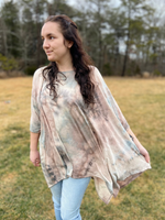 Colors of the Wind Poncho Top