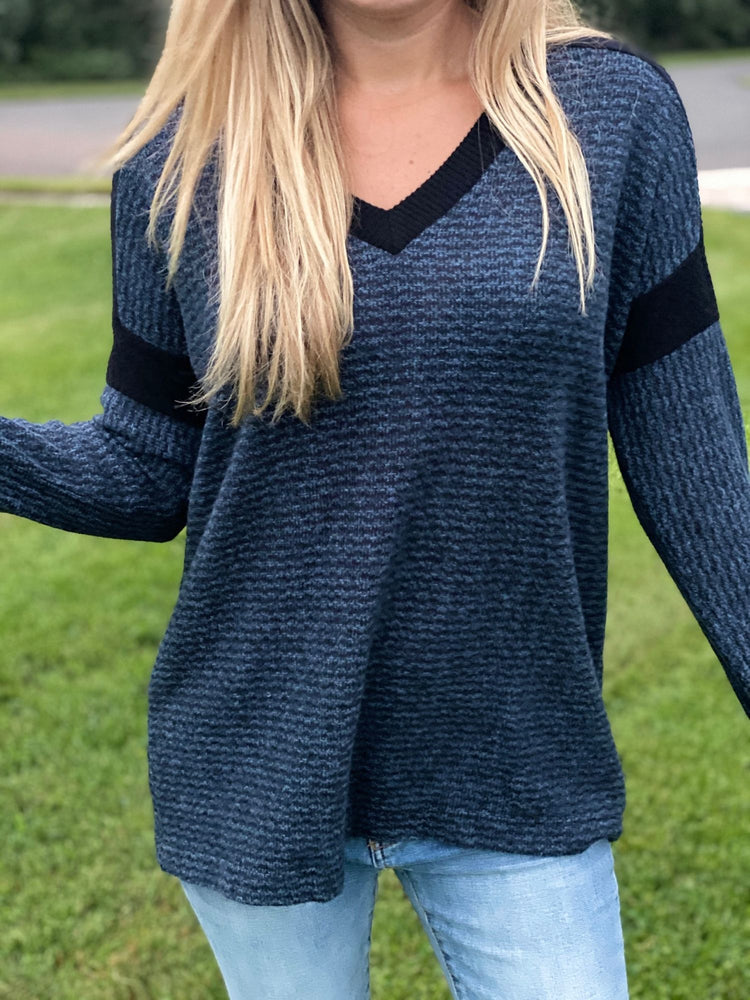 Soft As A Cloud Two Tone Sweater