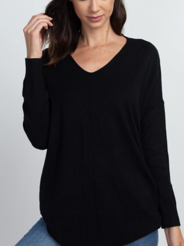 Everyday Comfort Sweater in Black