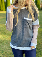 Autumn Nights Color Block Top