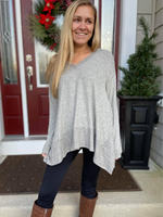 Touch of Grey V-Neck Tunic