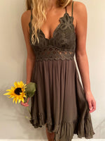 Autumn Leaves Olive Dress