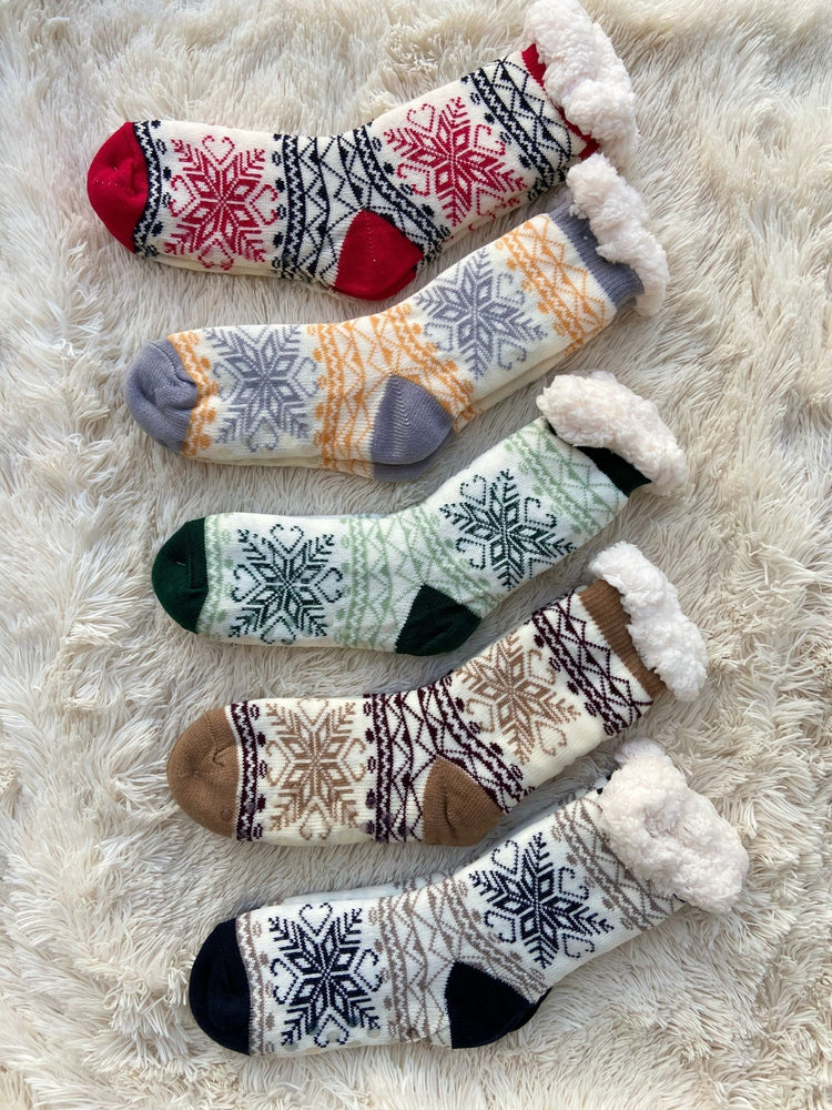 Winter Wonderland Slipper Socks