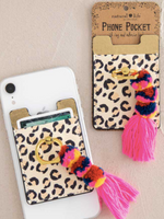 Phone Pocket with a Ring Tassel - Wild Magnolia