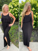 Sleeveless Black Maxi Dress (PREORDER)