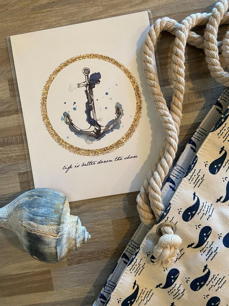 Anchor Beach Print