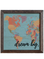 Dream Big Map Print Sign - Wild Magnolia