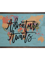 Adventure Awaits Wall Sign