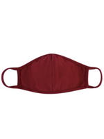 Burgundy T-Shirt Face Mask