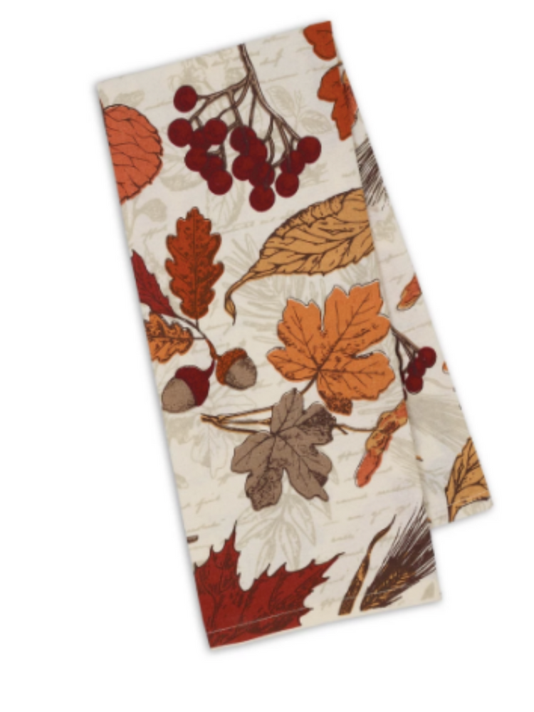 Autumn Botanical Printed Towel