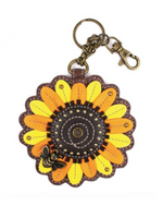 Chala Sunflower Key Fob and Coin Purse