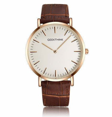 Slim w/ Leather Strap - Golden White
