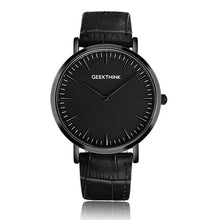 Slim w/ Leather Strap - Black