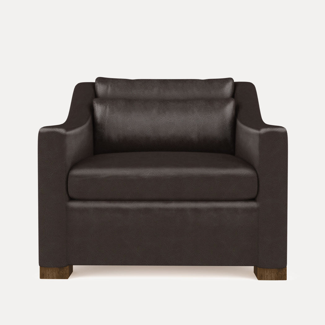 Modern Minimalist Leather Lounge Chair
