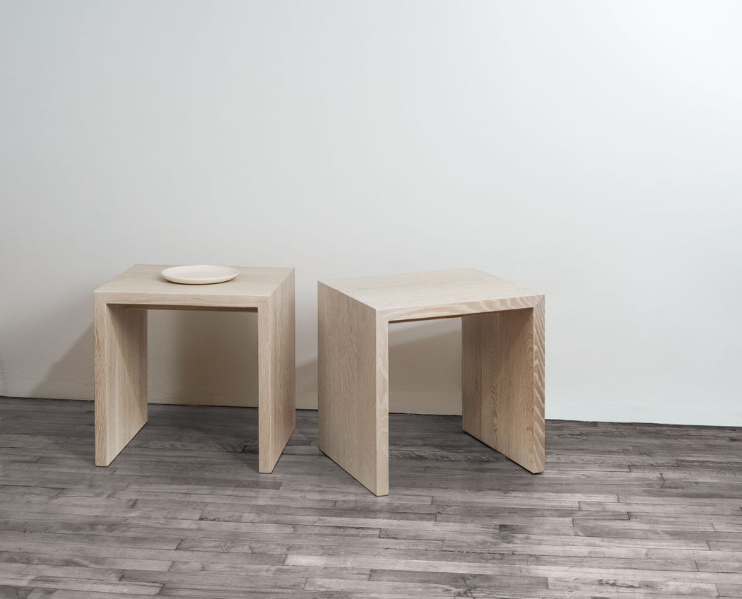 Modern Minimalist Edtoba Treble Side Table / Stool