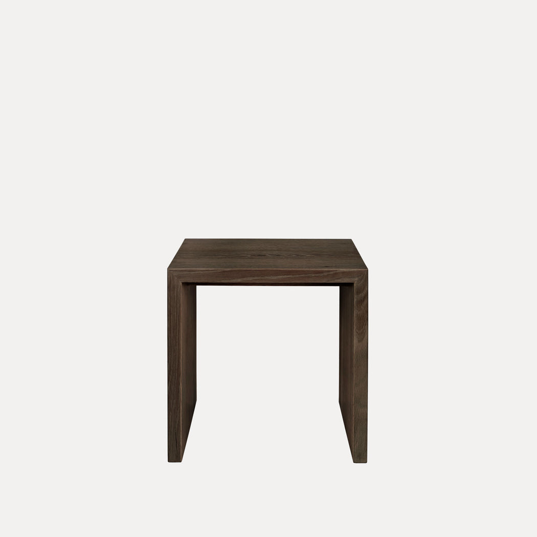 Edtoba Treble Side Table / Stool, Walnut