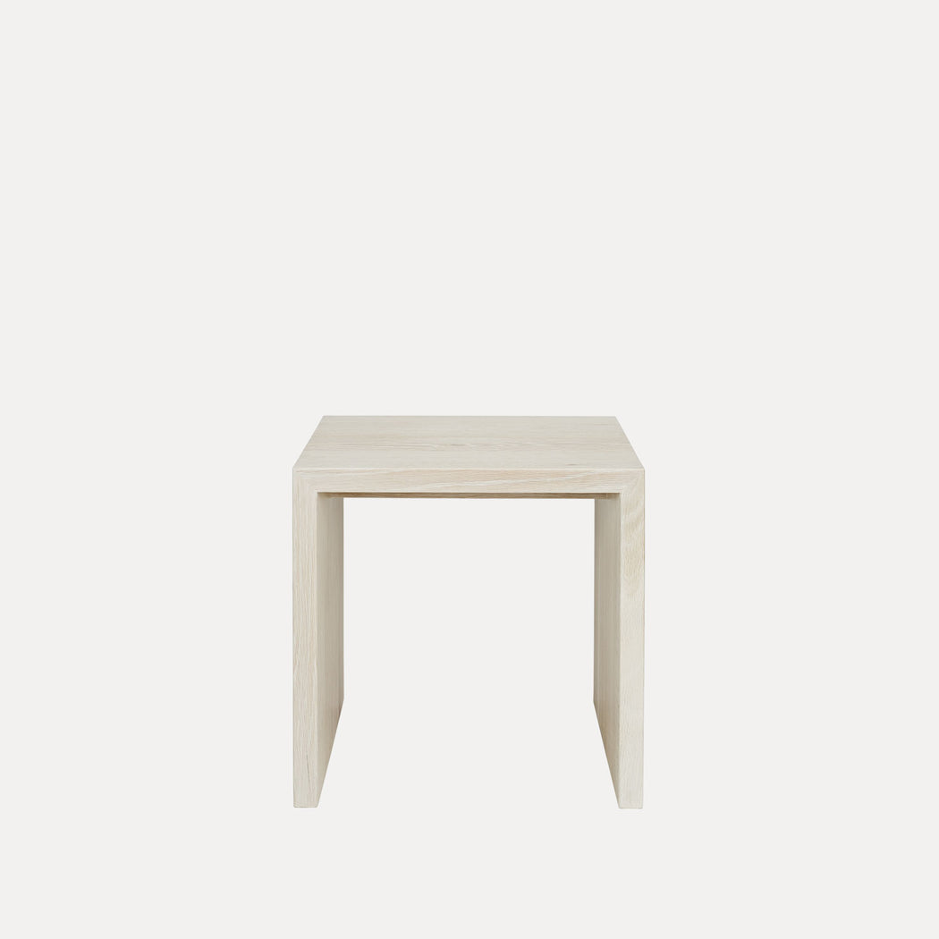 Edtoba Treble Side Table / Stool, Bleached Oak