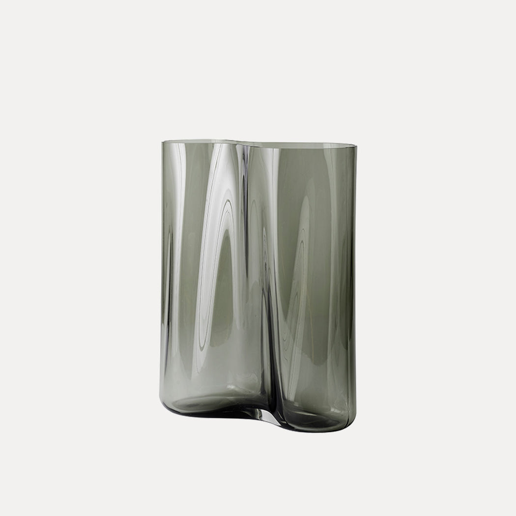 Menu Aer Vase, Smoke, 13""
