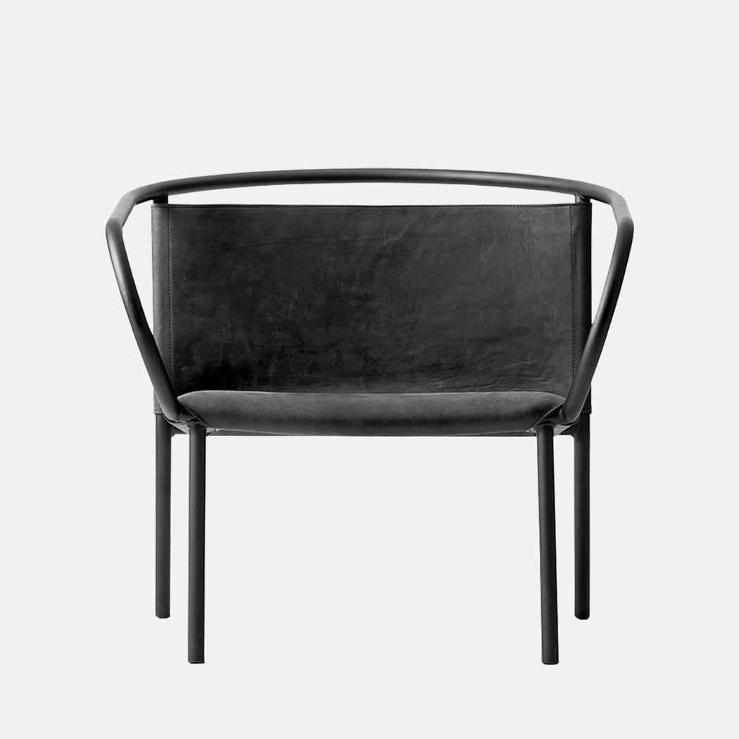 Menu Afteroom Lounge Chair, Black Leather