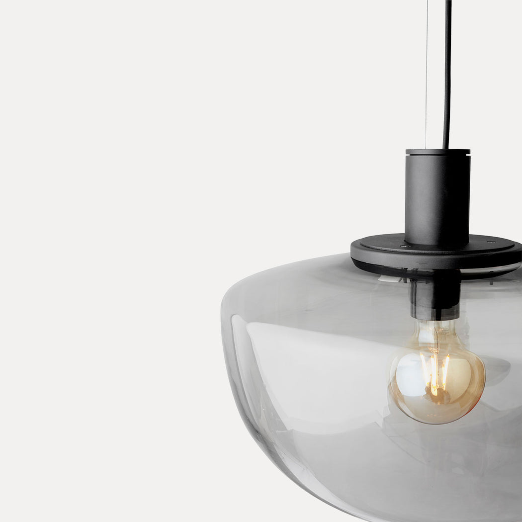 Menu Bank Pendant Light, Opal Glass