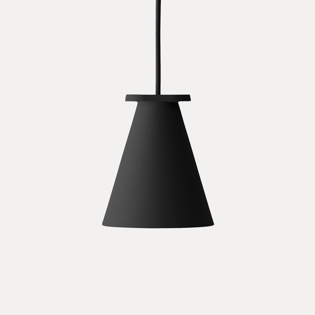 Bollard Pendant Light in Black
