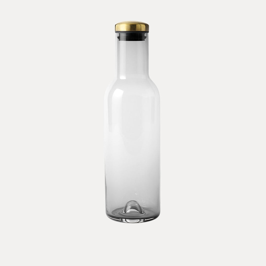 Menu Bottle Carafe, Smoke Glass