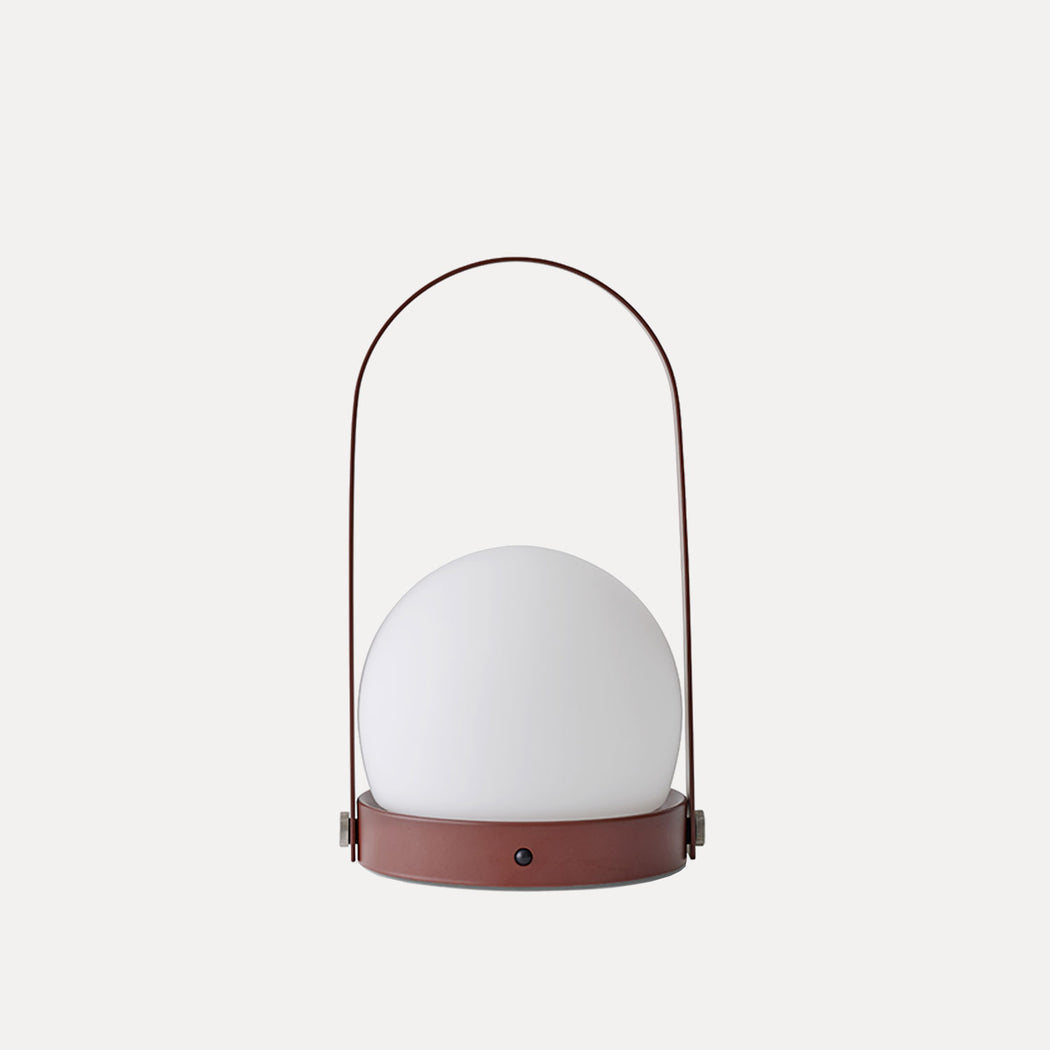 Carrie LED Table Lamp in Burned Red