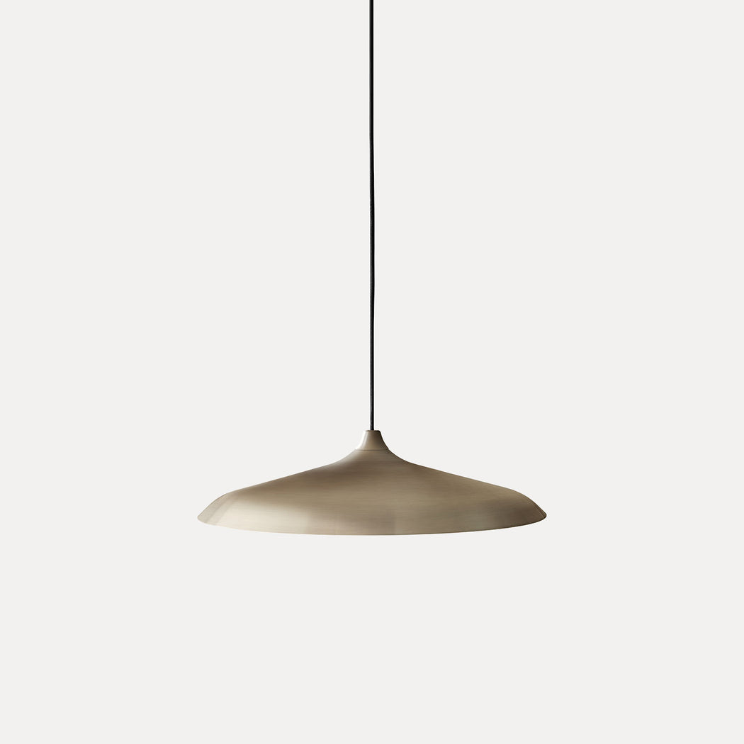 Menu Circular Pendant Light, Bronzed Brass