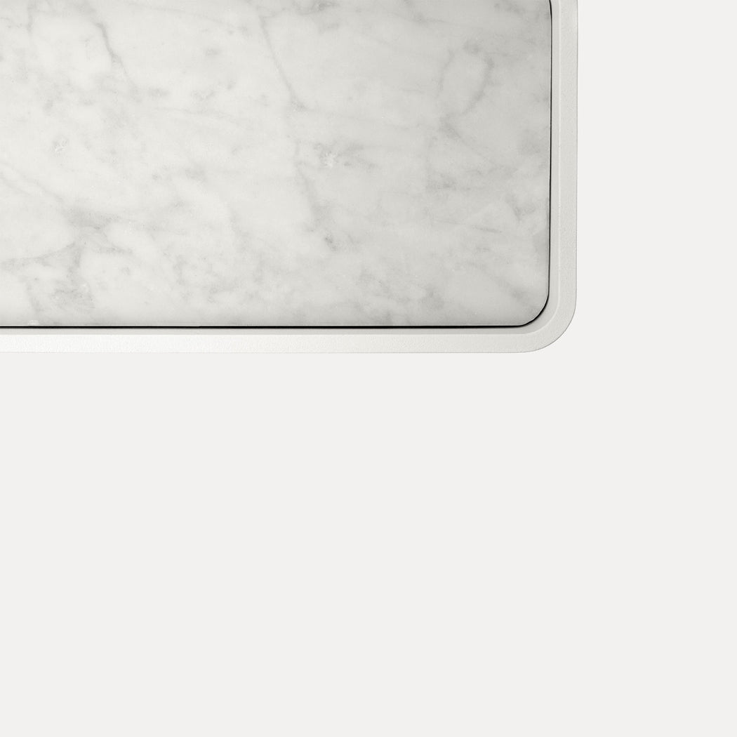 Menu Norm Marble Shower Tray, White