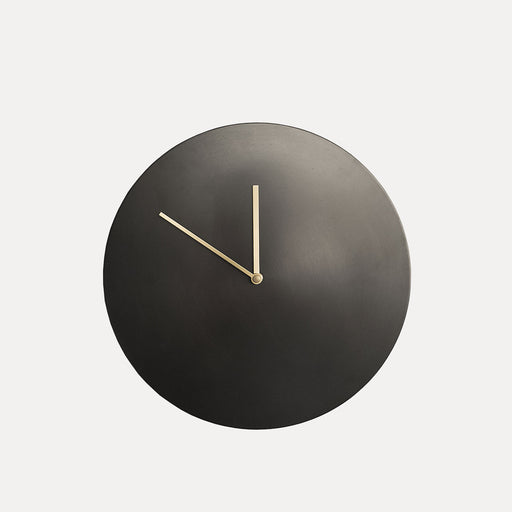 Norm Wall Clock, Bronzed Brass