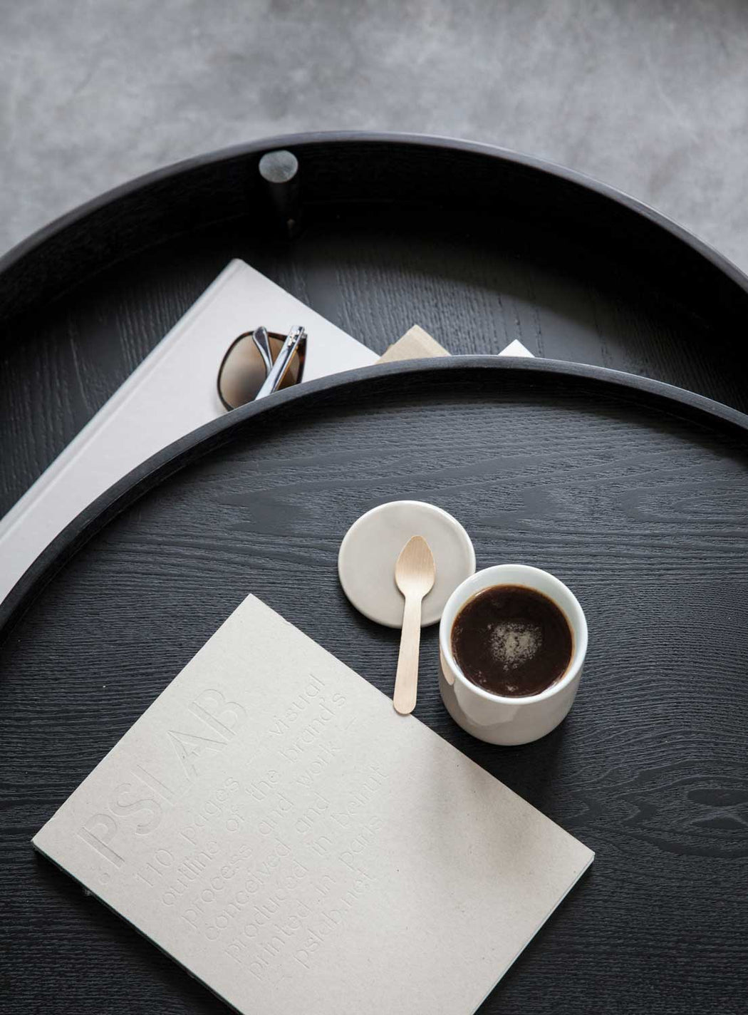 Modern Minimalist Menu Turning Coffee Table