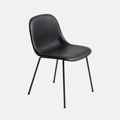 Fiber Tube Leather Side Chair