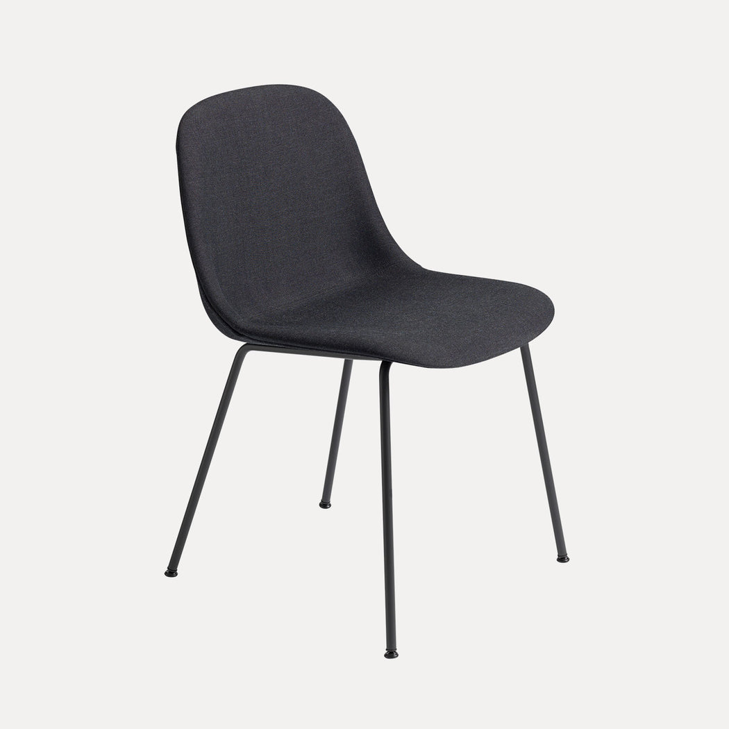 Fiber Tube Upholstered Side Chair, Remix 183/Black