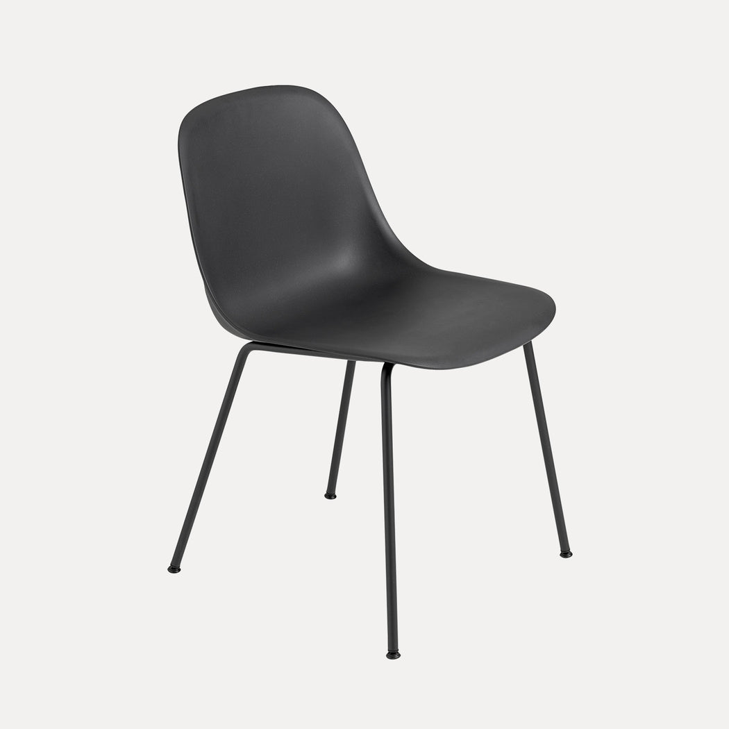 Fiber Tube Chair, Black Fiber/Black