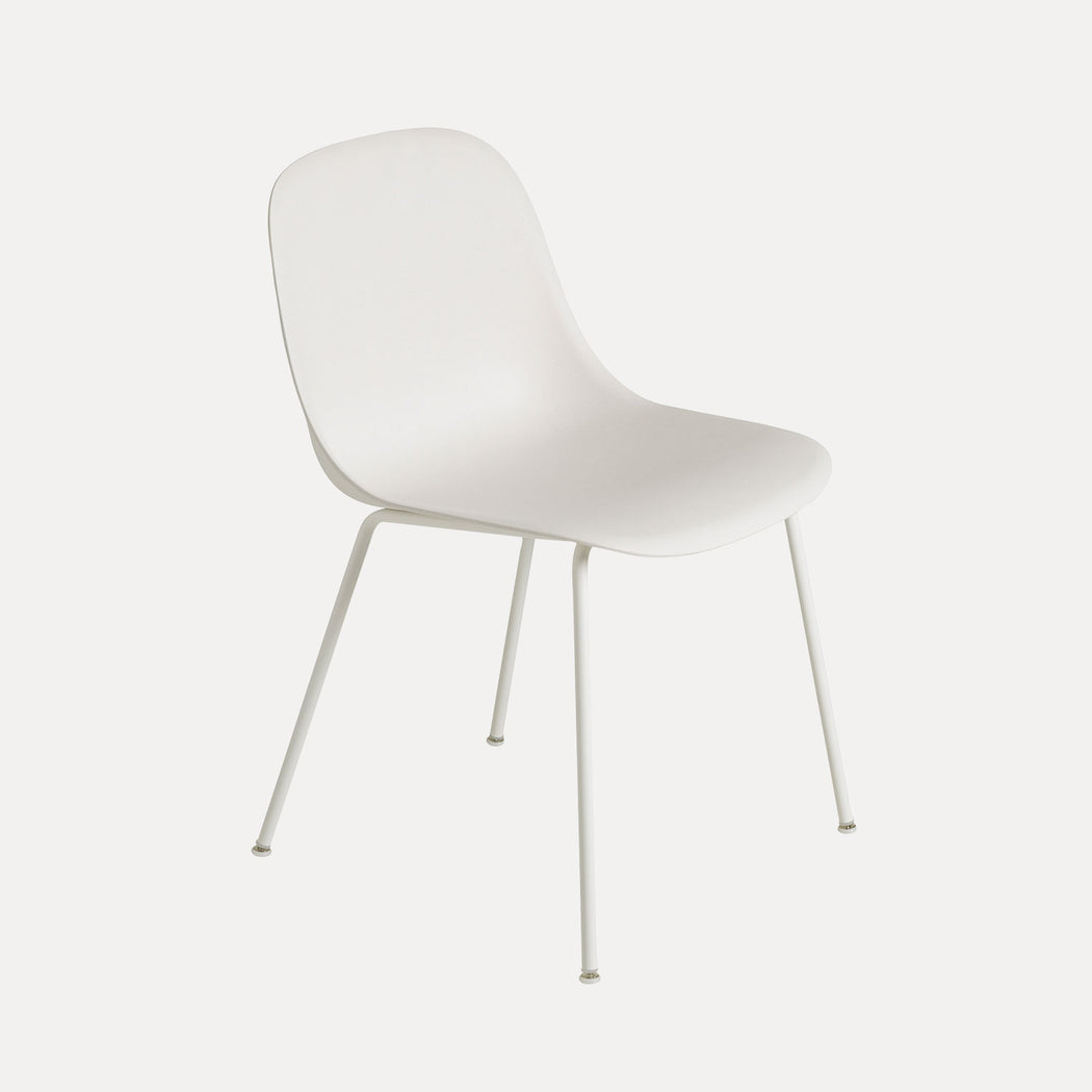 Fiber Tube Chair, White Fiber/White