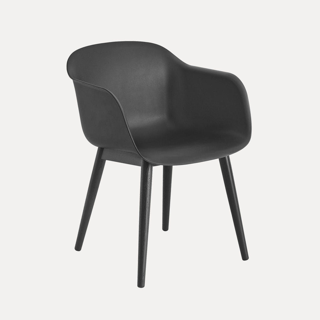Fiber Wood Armchair, Black Fiber/Black