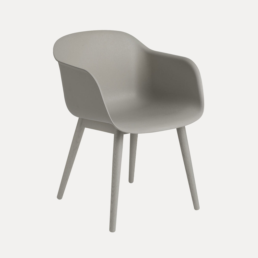 Fiber Wood Armchair, Grey Fiber/Grey