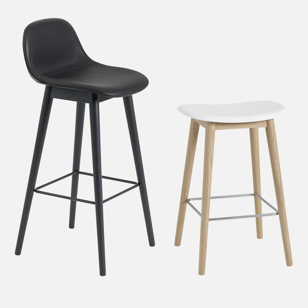 Fiber Wood Leather Bar Stool W, Lifestyle
