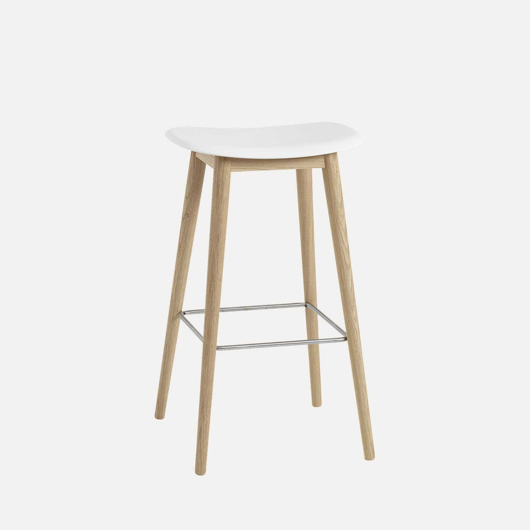 Fiber Wood Bar Stool
