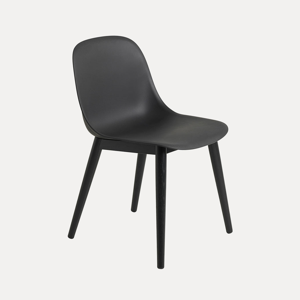 Fiber Wood Chair, Black/Black