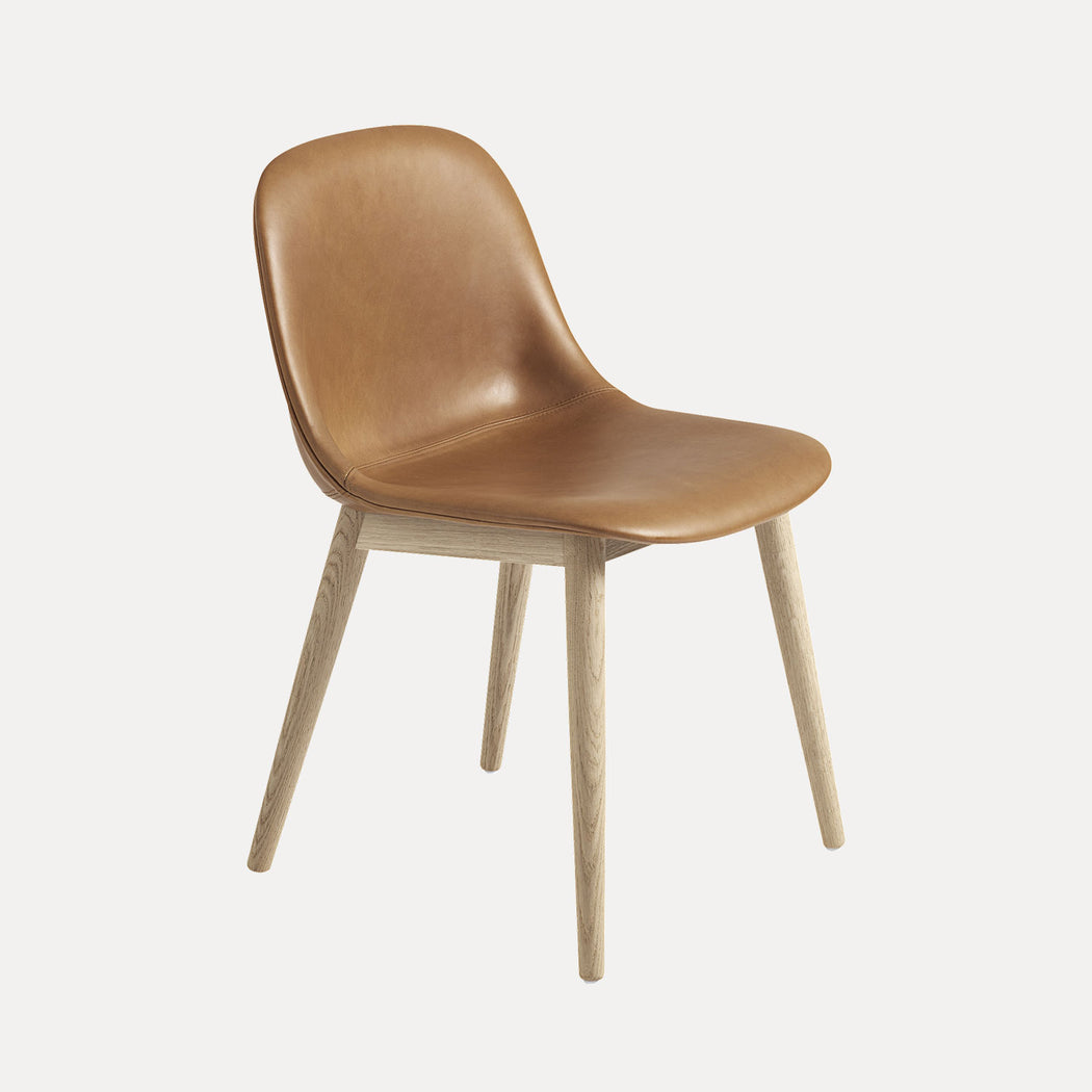 Fiber Wood Leather Chair