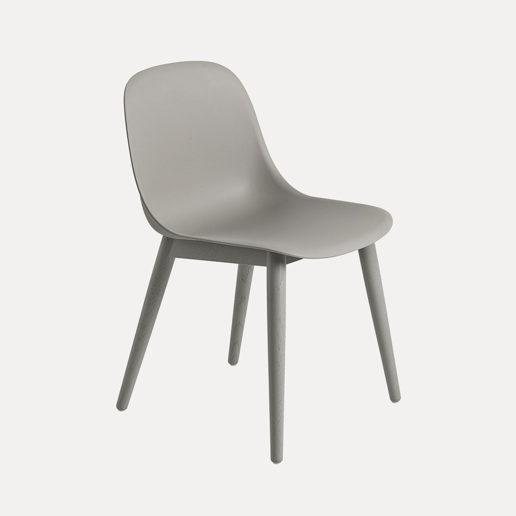Fiber Wood Chair, Grey/Grey