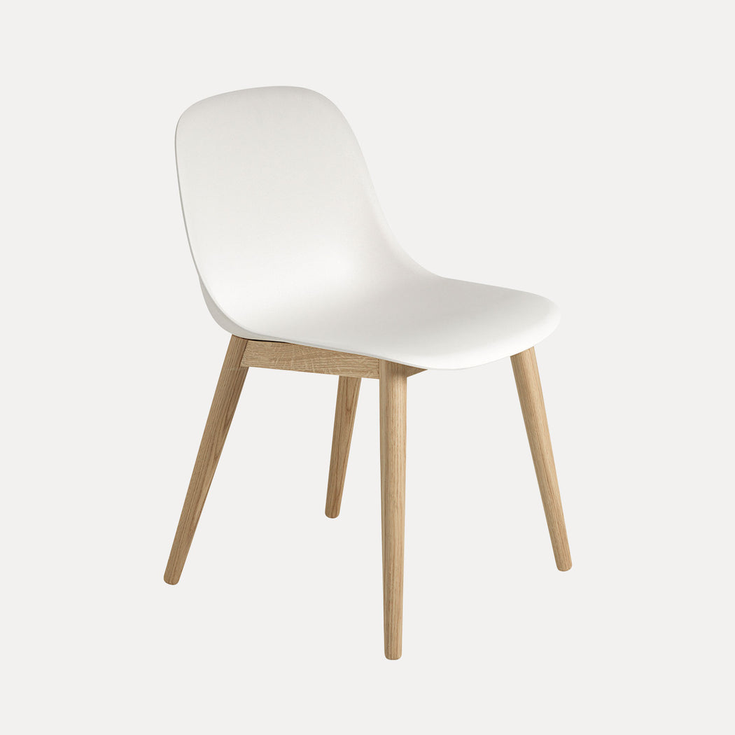 Fiber Wood Chair, Natural White/Oak