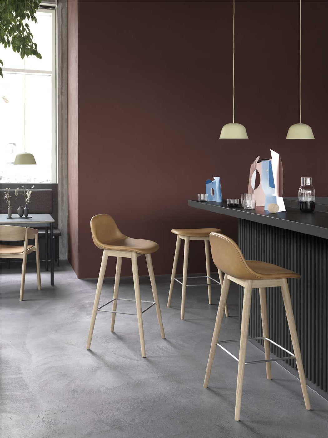Fiber Wood Counter Stool, Lifestyle