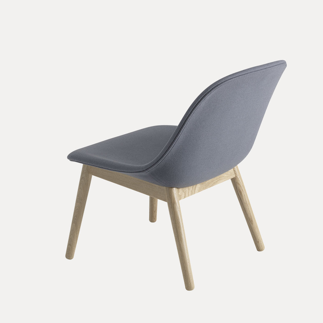 Fiber Wood Upholstered Lounge Chair