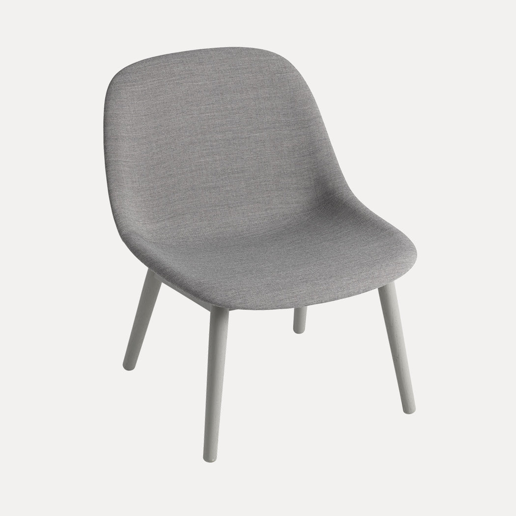 Fiber Wood Upholstered Lounge Chair, Remix 133/Grey