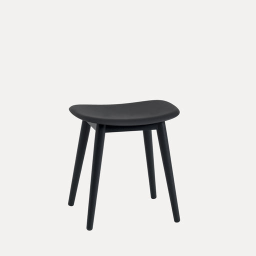 Fiber Wood Stool, Black/Black