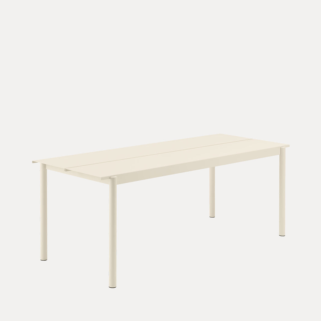 Muuto Linear Steel Table, Off-White
