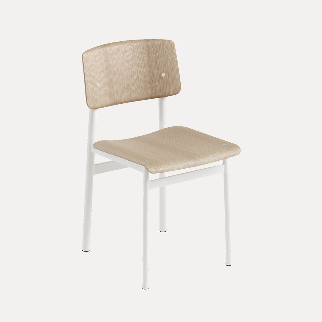 Loft Chair, White/Oak